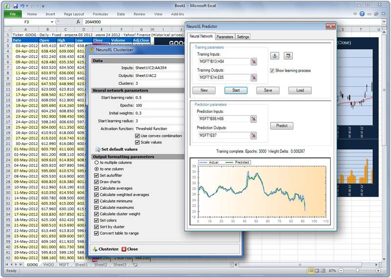 Click to view NeuroXL Package 4.0.5 screenshot